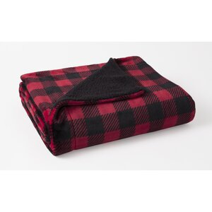 Brevin Buffalo Check Plush Reversing to Sherpa Throw