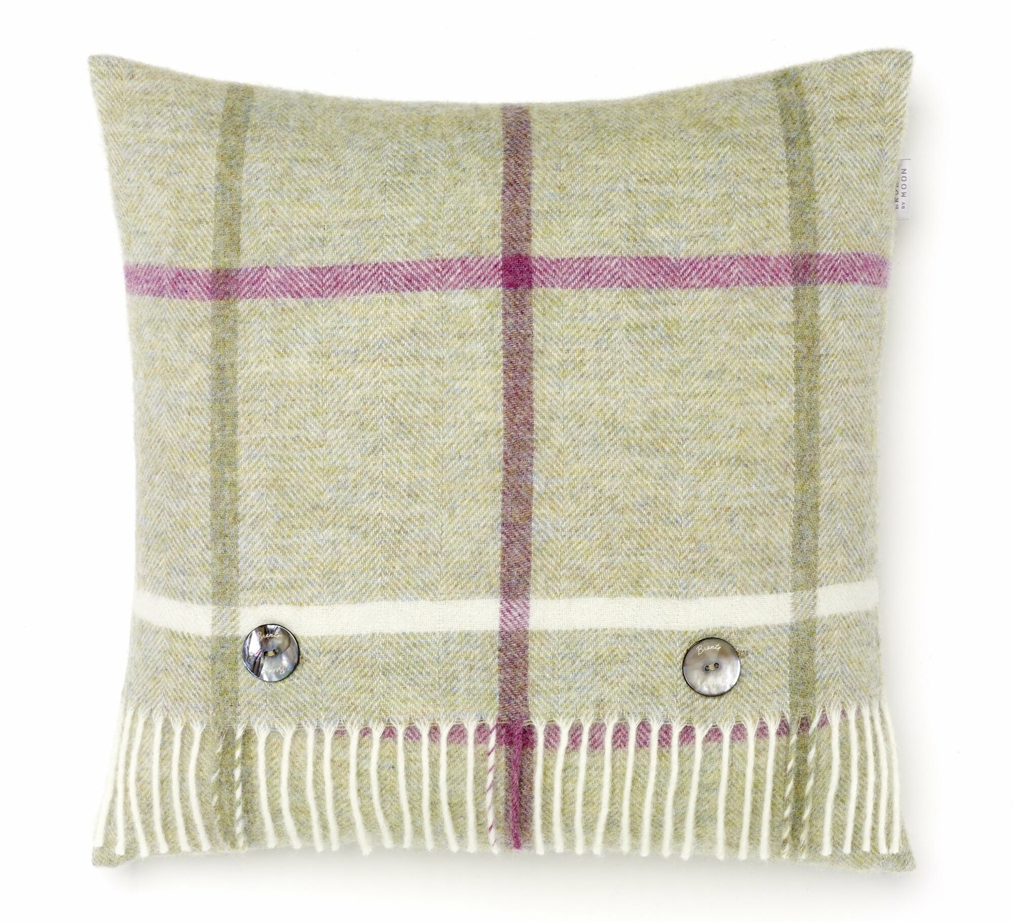 Gracie Oaks Bucktown Windowpane Wool Throw Pillow Wayfair