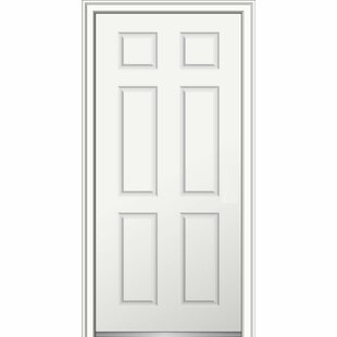 Severe Weather Smooth Primed 6 Panel Out Swing Fiberglass Prehung Front  Entry Door