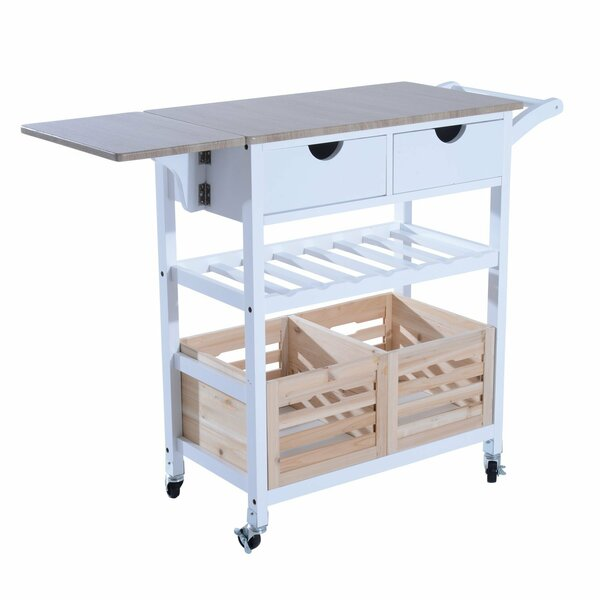 drop leaf kitchen cart Winston Porter Nikolai Rolling Drop Leaf Kitchen Cart | Wayfair drop leaf kitchen cart