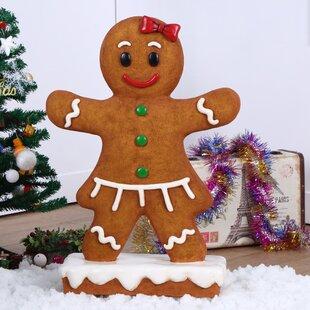 Gingerbread Girl Oversized Figurine