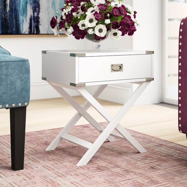 Mercury Row Marotta 1 Drawer End Table & Reviews