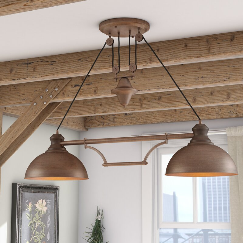 Laurel Foundry Modern Farmhouse Rodriques Pulldown 2-Light