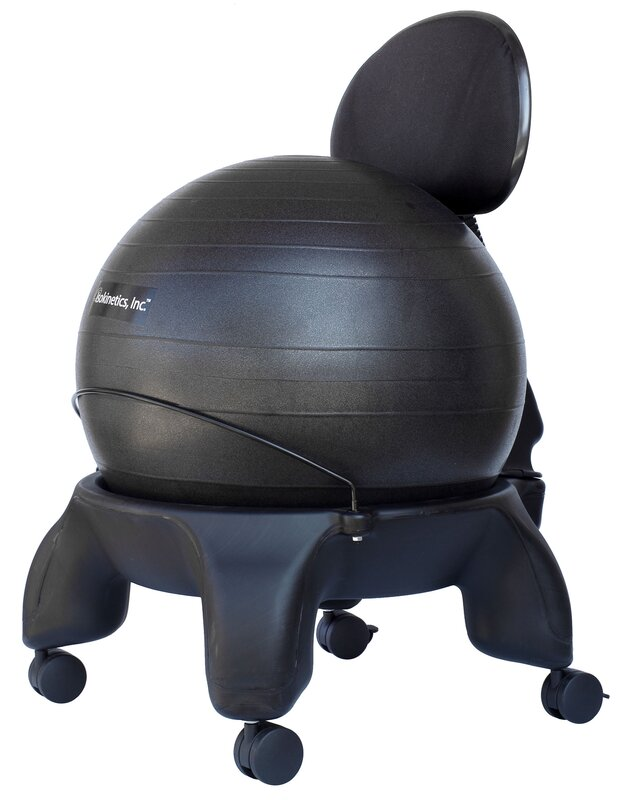 tall boy highback exercise ball chair