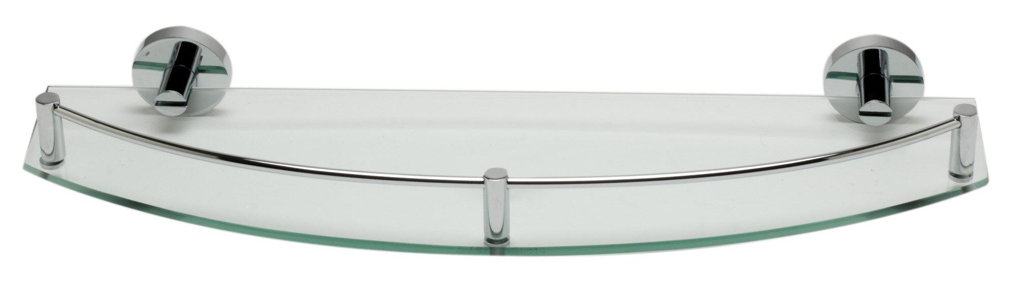 ALFI Brand AB9547 Polished Chrome Wall Mounted Glass Shower Shelf Bathroom  Accessory | Wayfair