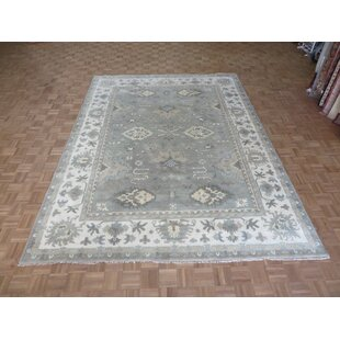 One Of A Kind Bearer Ushak Hand Knotted 8 10 X 11 Wool Soft Green Area Rug