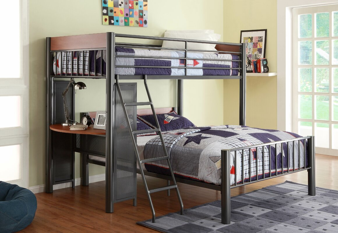 woodhaven hill division twin over full l shaped bunk bed reviews wayfair. Black Bedroom Furniture Sets. Home Design Ideas
