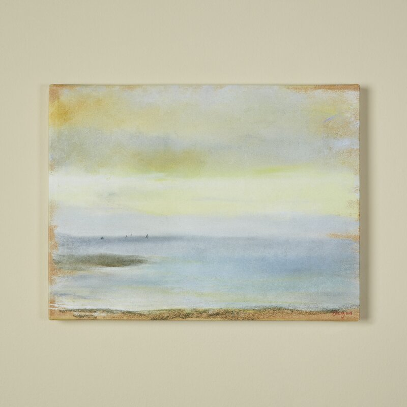 Beachcrest Home Marine Sunset By Edgar Degas Framed On