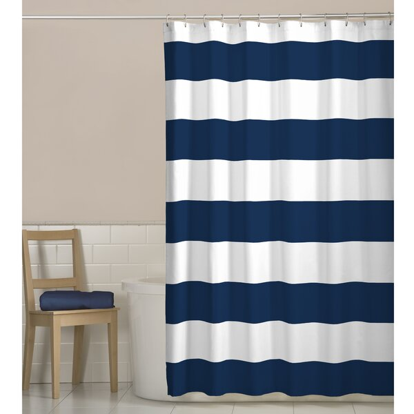 Beachcrest Home Berwyn Fabric Shower Curtain Reviews Wayfair
