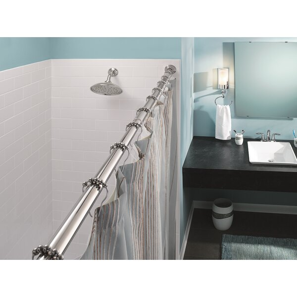 Moen 72 Adjustable Straight Tension Shower Curtain Rod Reviews Wayfair