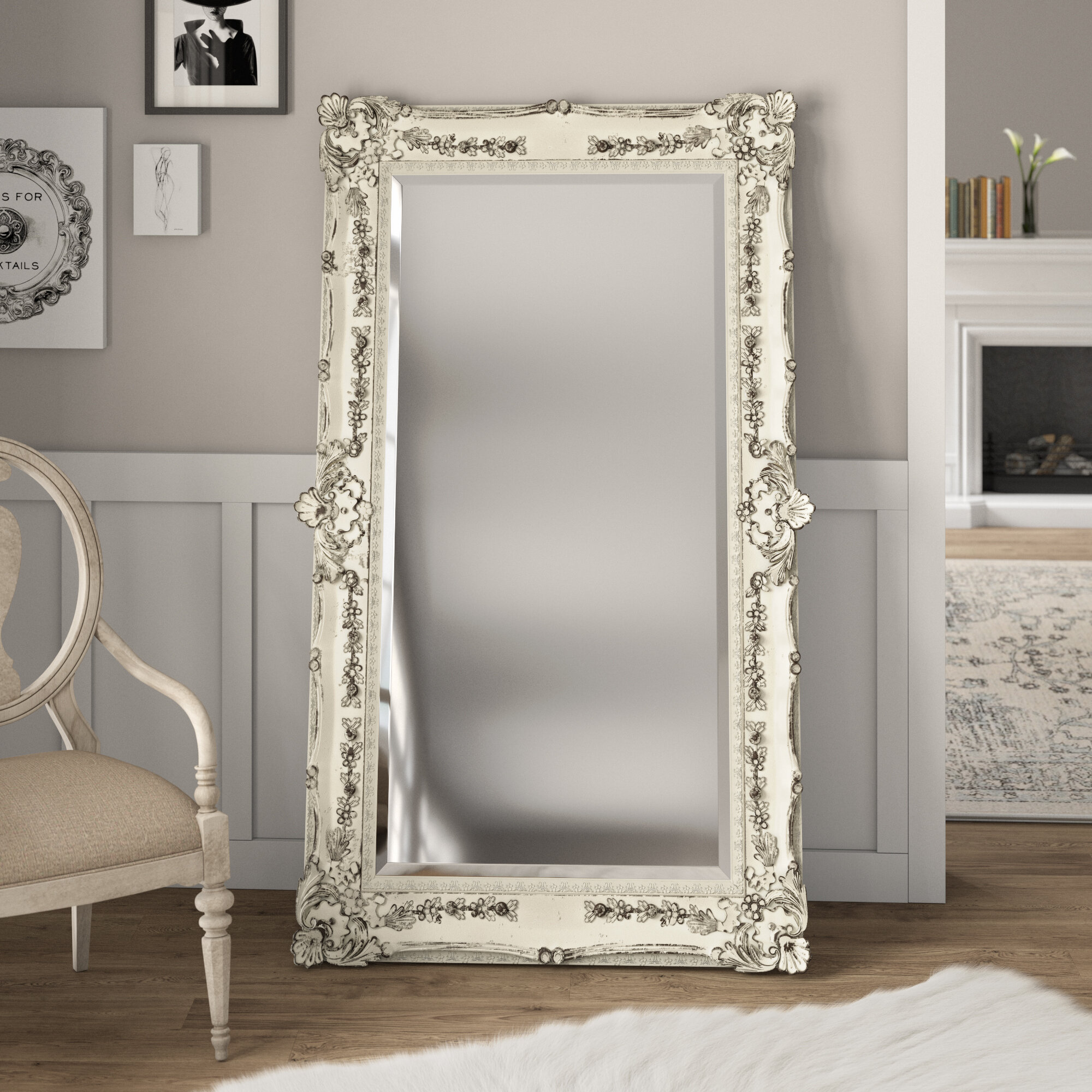 Incroyable Antique Full Length Mirror