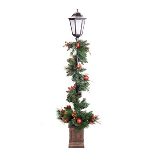 muriel pine potted 60 lamp post - Light Post Christmas Decorations