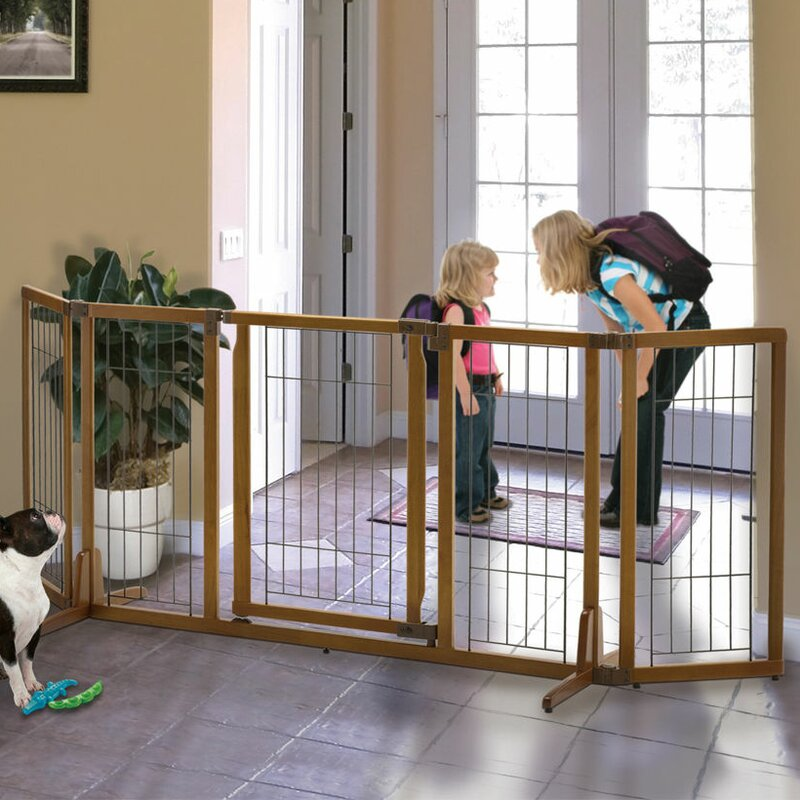 Richell Wide Premium Plus Freestanding Pet Gate With Door
