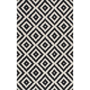 climer handtufted black area rug