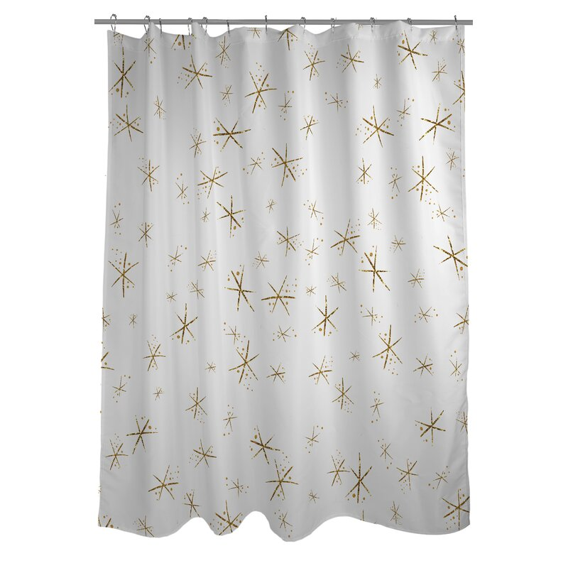 Hello Beautiful Sparkles Shower Curtain