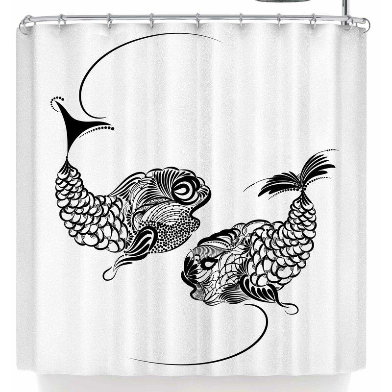 Maria Bazarova Fish Horoscope Zodiac Pisces Shower Curtain