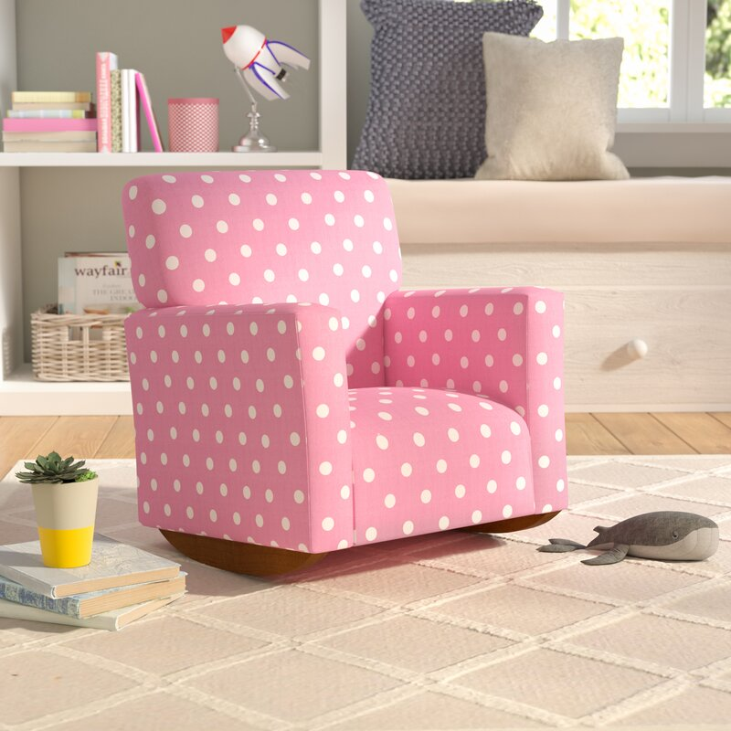 Viv + Rae Becky Polka Dot Kids Cotton Rocking Chair & Reviews | Wayfair