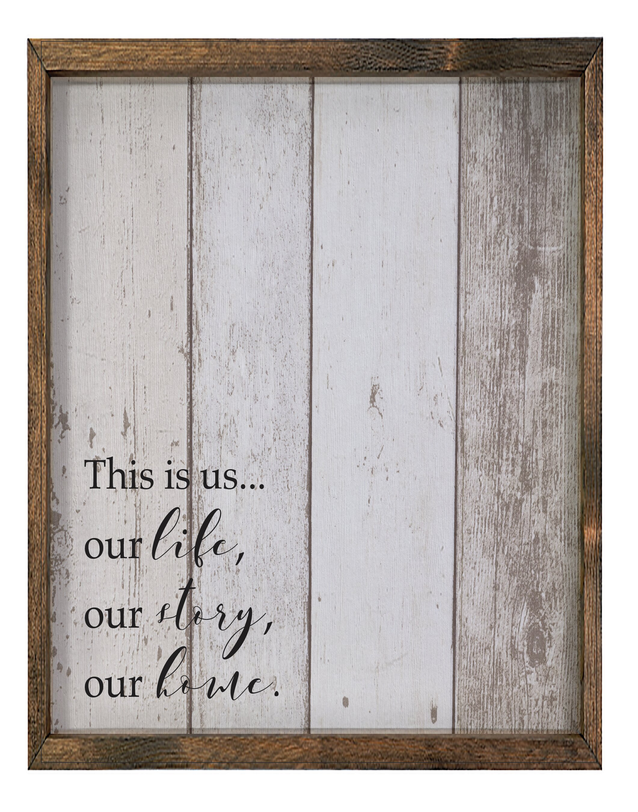This Is Us Framed Textual Art Joss Main