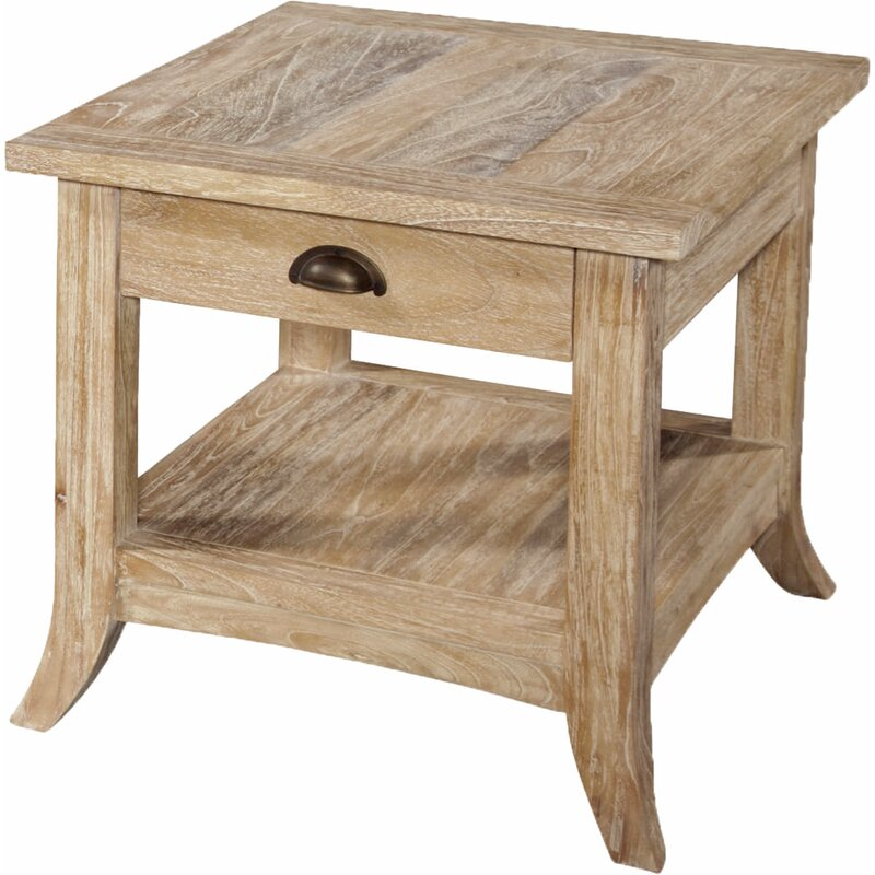 Braxton Culler Fairwind End Table With Storage In Rustic Bronze
