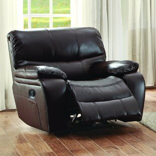 Real Leather Recliner Chair | Wayfair