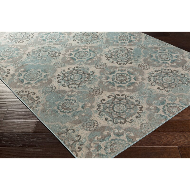 Teal Woven Rag Rug: Raquel Machine Woven Teal/Silver/Gray Area Rug & Reviews