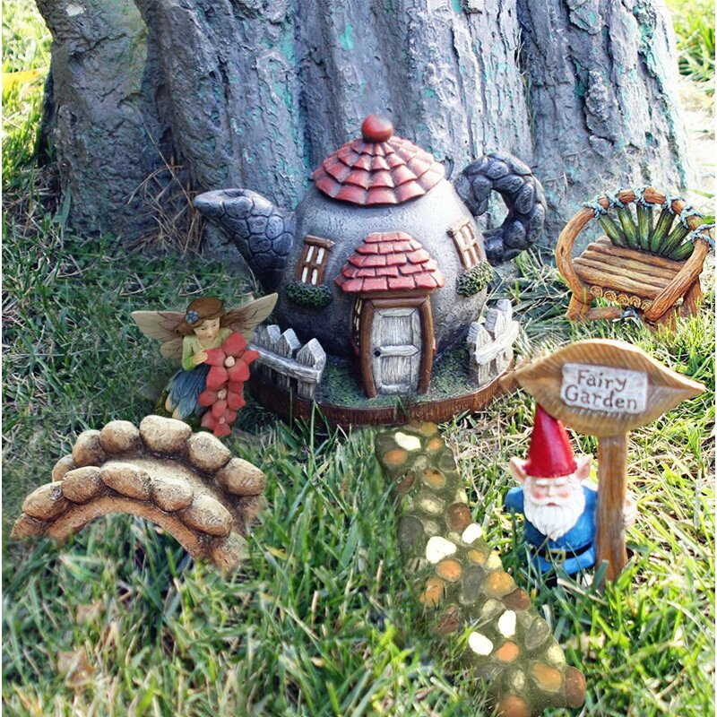 Superieur Mostajo 6 Piece Fairy Garden Set