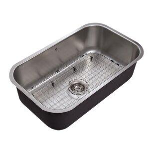VIGO 30 inch Undermount 18 Gauge Stainless Steel Kitchen Sink