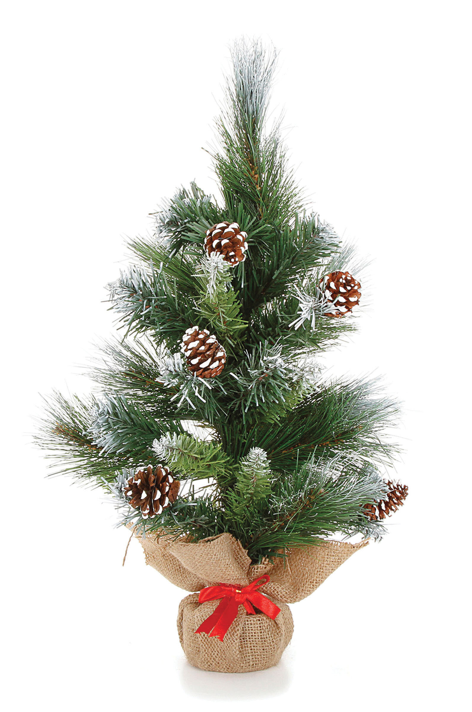 The Holiday Aisle Mini 18 Green Pine Trees Artificial Christmas Tree With Snow Pinecones Wayfair