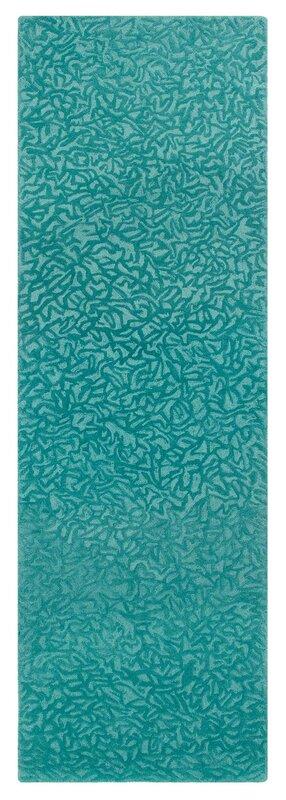 companyc crackle hand-tufted peacock area rug & reviews | wayfair