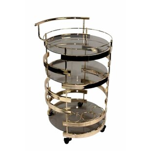 Gaughan Glamorously 3 Tiered Bar Cart