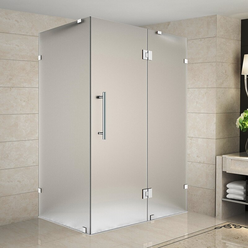 Aston Avalux 48 X 72 Hinged Frameless Shower Door Wayfair
