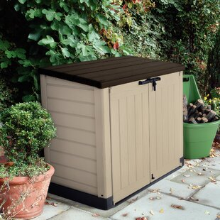 It Out Max 57 W X 32 D Plastic Horizontal Garbage Shed