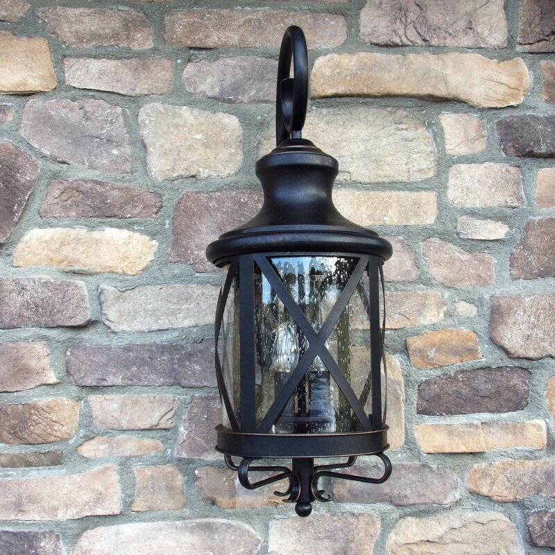 Outdoor Wall Lights Types: Three Posts Fairbury Outdoor Wall Lantern & Reviews