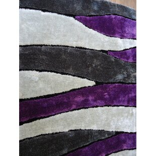 Look for Hand-Tufted Gray/Purple Area Rug By Rug Factory Plus