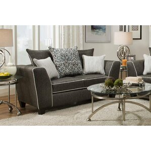 Teterboro Vivid Onyx Loveseat by Latitude Run