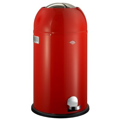 Wesco Kickmaster 7.5 Gallon Step On Trash Can Color: Red