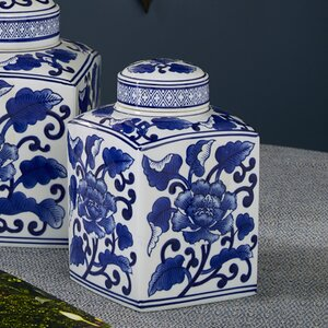 White/Blue Ceramic Decorative Box