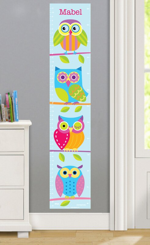 Olive Kids Owls Personalized Peel And Stick Growth Chart Reviews