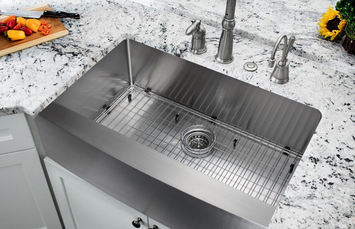 35 875   x 20 75   single bowl farmhouse apron kitchen sink soleil 35 875   x 20 75   single bowl farmhouse apron kitchen sink      rh   wayfair com