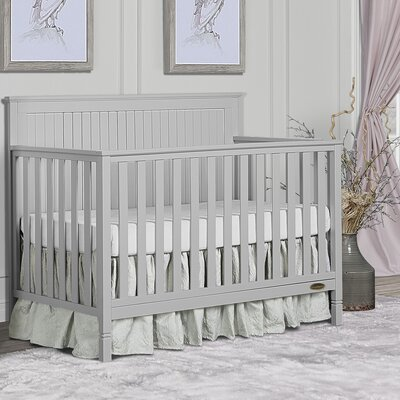 Alexa 5-in-1 Convertible Crib Dream On Me Color: Pebble Grey