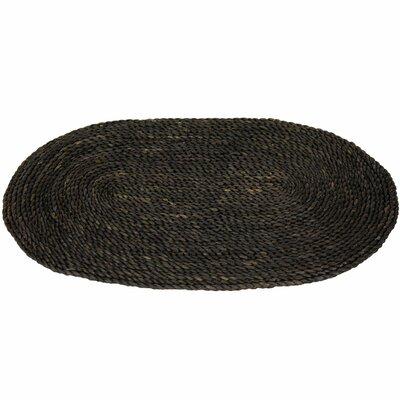 maize black oval area rug