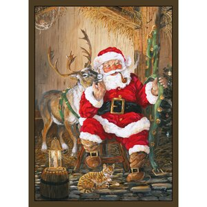Santa and Reindeer Area Rug