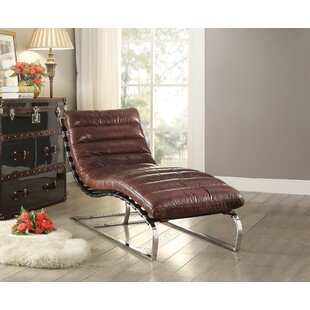 Lockman Top Grain Leather Chaise Lounge