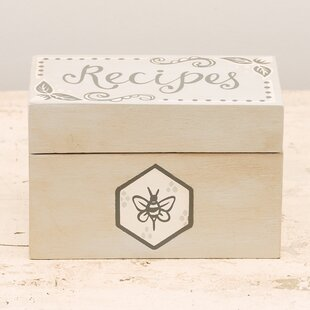 5x7 recipe box wayfair save thecheapjerseys Image collections
