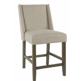 Keira Fabric Upholstered Wooden Bar Stool