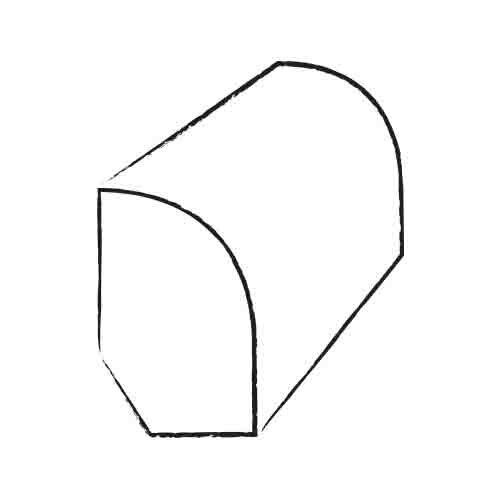 "1"" x 1.81"" x 78"" Maple Base / Shoe Molding in Cherry/Garnet"