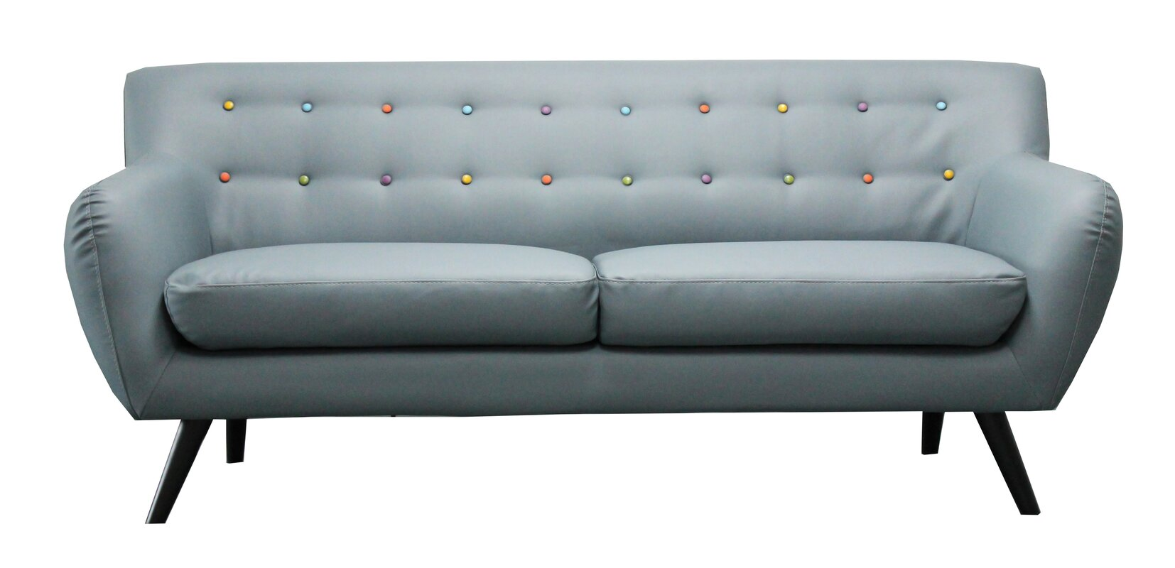Mid century modern tufted sofa reviews allmodern for All modern furniture