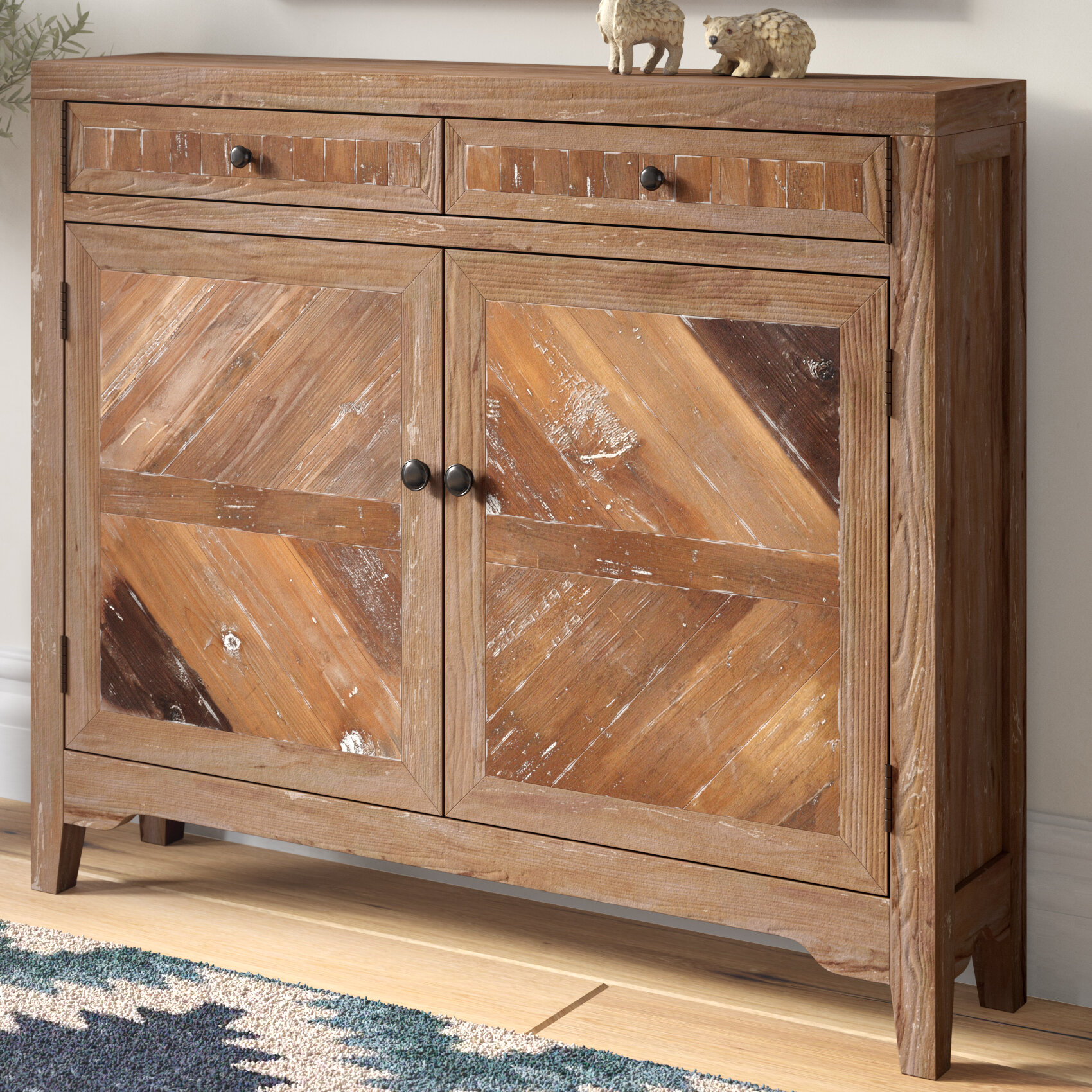 Remarkable Kaspar Reclaimed Wood Console Cabinet Home Interior And Landscaping Mentranervesignezvosmurscom