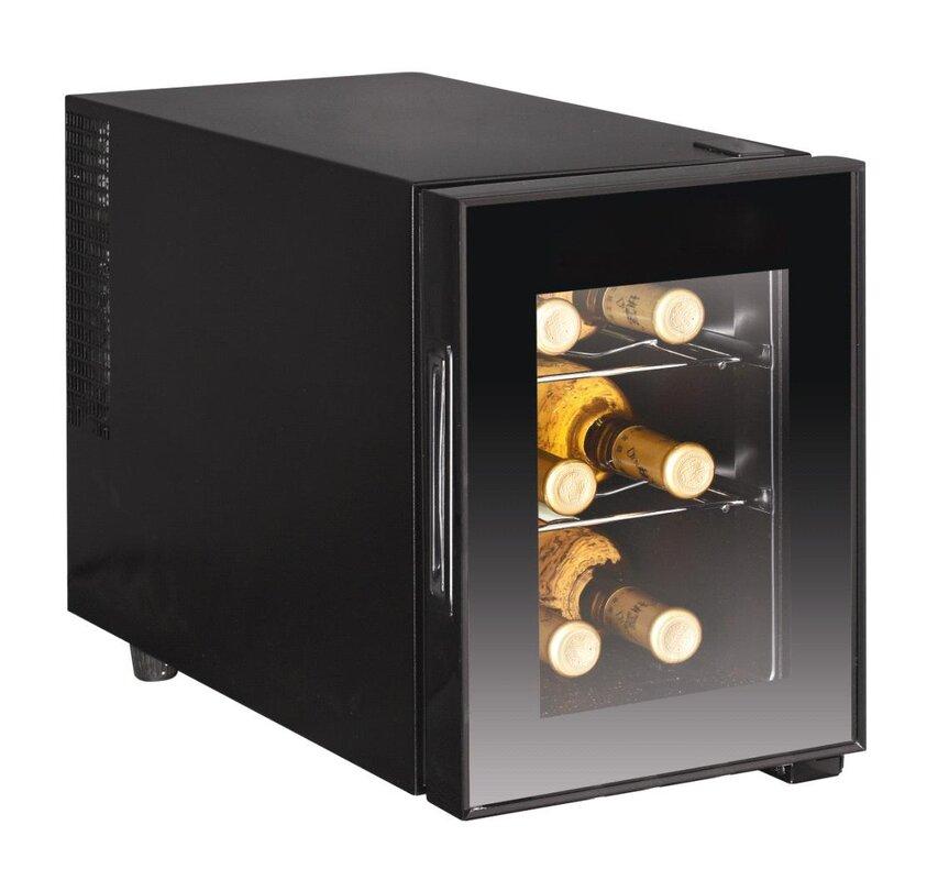 6 Bottle Single Zone Freestanding Wine Cooler