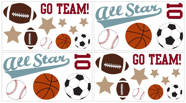 All Star Sports Wall Decal